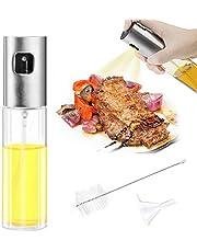 Mture Ölsprüher Flasche, Oil Sprayer Glas Öl Essig Spender Flasche Küche Werkzeug, Öl Sprüher für Kochen, BBQ, Grillen, Pasta, Salate, Backen und Braten (100ml)