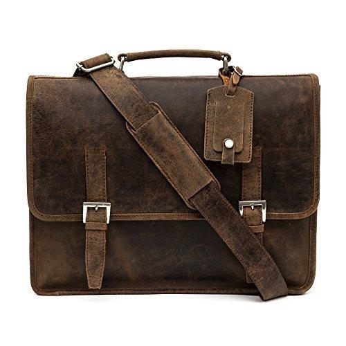 36e8a5dbdf853 porterbello -  Sizilien  Groß Handgemacht Premium Hunter Leder Beutel  Aktentasche Messenger Laptop Tasche
