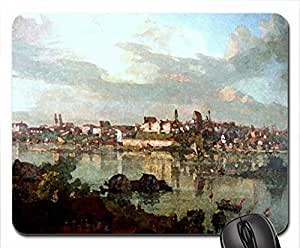 Bernardo Bellotto - View of Warsaw from Praga Mouse Pad, Mousepad (10.2 x 8.3 x 0.12 inches)