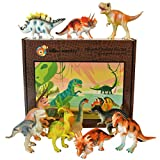 Dinosaur toy plastic figures boxed set of 12 - Large