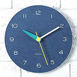 Nordic Clock Living Room Personality Wall Clock Creative Fashion Wall Clock Modern Simple Clock Household Wall-Mounted Decoration Bedroom Mute Clock Trend Wall Clock,Blue