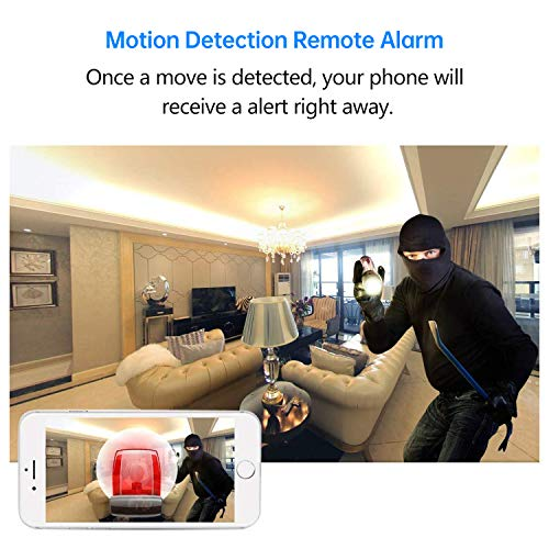 Mini WiFi Spy Camera Wireless Hidden Camera with 140° Lens - Upgraded Night Vision - Motion Activated -Indoor Outdoor Small Nanny Cam Video Recorder for Home -Phone APP Control