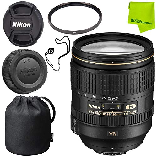 Nikon AF-S NIKKOR 24-120mm f/4G ED VR Lens Base Bundle
