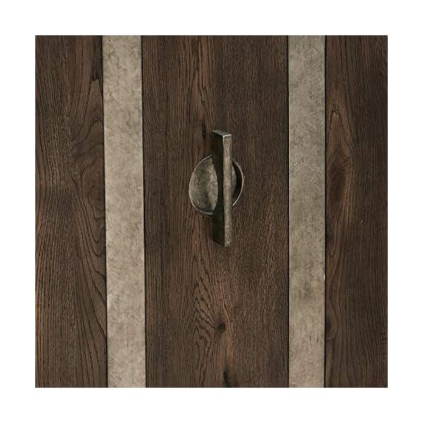 Pulaski Metal Strap Dk Oak Three Door Console Accents, Brown