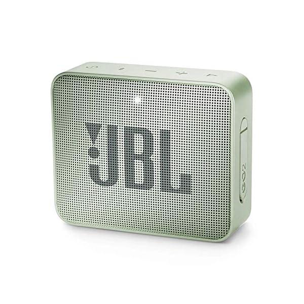 JBL Go 2 - Mini enceinte Bluetooth Portable - Étanche pour Piscine & Plage Ipx7 - Autonomie 5hrs - Qualité Audio JBL - Menthe 1