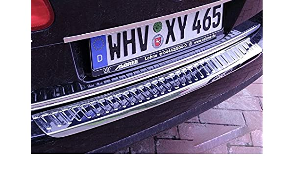 Protector cromado maletero passat 3C B6 Variant acero inoxidable: Amazon.es: Coche y moto
