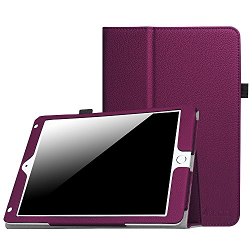 (Fintie iPad 9.7 2018/2017, iPad Air 2, iPad Air Case - [Corner Protection] Premium Vegan Leather Folio Stand Cover, Auto Wake/Sleep for iPad 6th / 5th Gen, iPad Air 1/2, Purple)