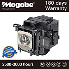 Mogobe For ELPLP78 Replacement Projector Lamp with Housing by