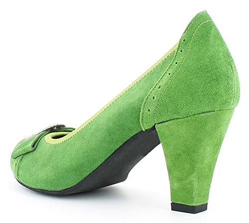 il belle per Costume Pumps tradizionale Zierschnalle con Hirschkogel verde scarpe xAppfZ