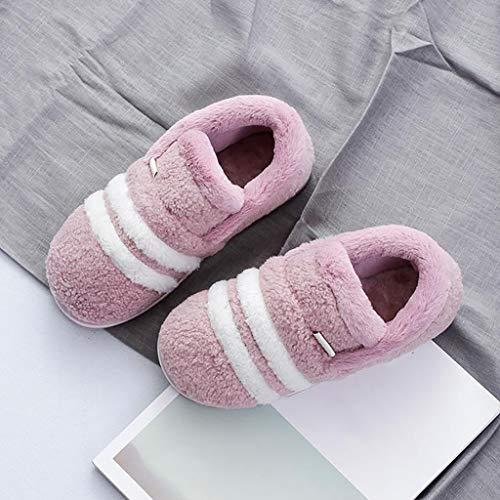 Maison Non Mode Mode Automne Et Hiver Femelle Pantoufles 35 Coton Slip Pourpre Taille Chaussons HUYP Lumière Mignonne EtAwqq