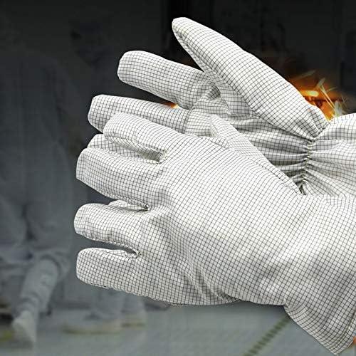 手袋 180度ほこりのない高温耐性手袋帯電防止帯電防止火傷防止手袋工場のほこりのないワークショップに適した毛羽立ち LMMSP