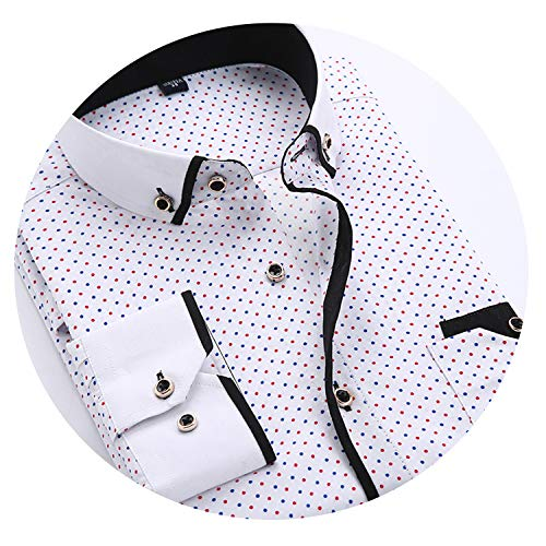 2019 Spring Autumn Long Sleeve ShirtSlim Fit Men Work Business Shirts,616,Asian Size XL