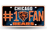 Chicago Bears NFL #1 Fan Metal License Plate
