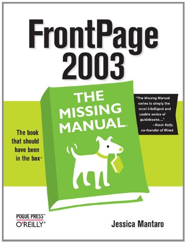FrontPage 2003: The Missing Manual Pdf