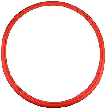 【𝐍𝐞𝒘 𝐘𝐞𝐚𝐫】Neum¢ticos s®Lidos para Bicicletas, neum¢ticos sin c¢Mara inflables duraderos y Antideslizantes para Engranajes fijos neum¢ticos para Bicicletas de Carretera (Rojo)