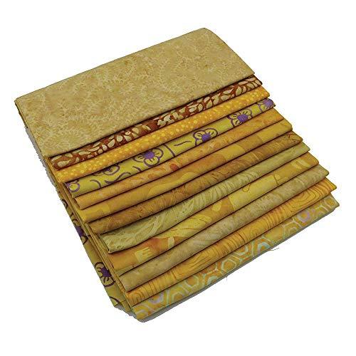 Island Batik Treats 12 Yellow Fat Quarters