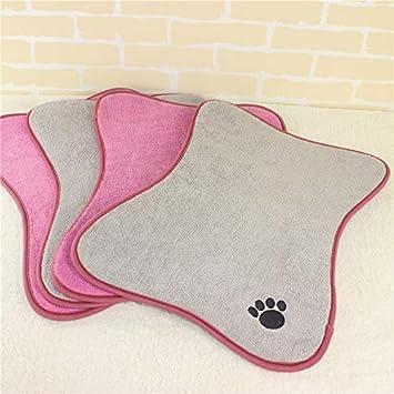 Loozoom Alfombrilla Antideslizante para Comer Mascotas, Forma de Hueso, para Mascotas, Perros,