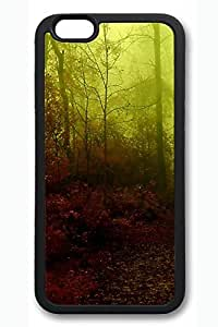 iPhone 6 Case - Dark Forest 5 Beautiful Scenery Pattern Rubber Black Case Cover Skin For iPhone 6 (4.7 inch)