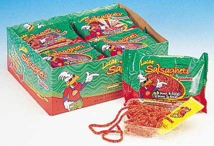 Lucas Salsagheti Gusanos Sandia - Hot Mexican Candy 24-0.85oz Packages