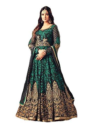 - Ready Made Designer Fashion Anarkali Salwar Kameez Party Wear Maisha New (Green, XL-44)