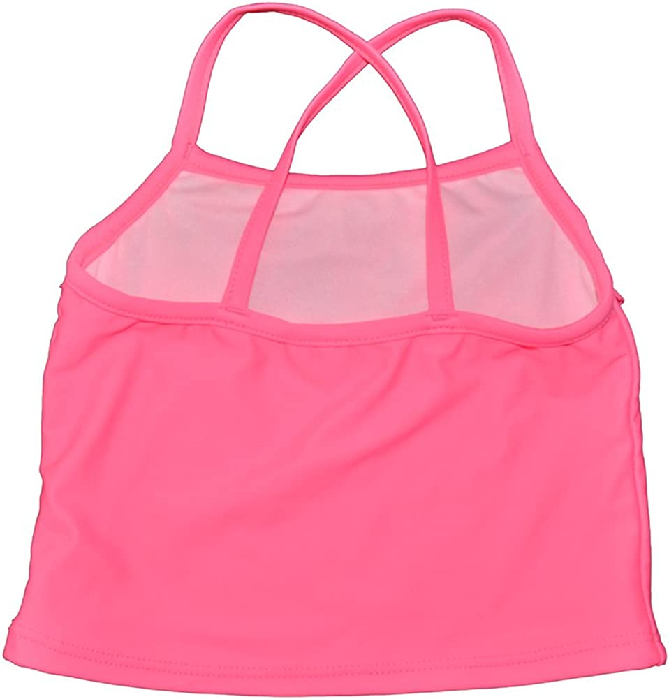 Carters Little Girls Two Piece Pink Fringe Tankini
