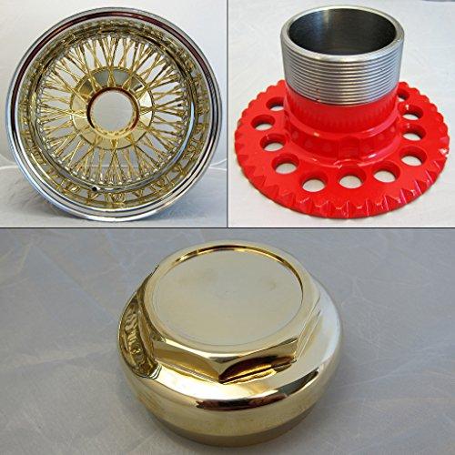 DONGFANG 13x7 REV Reverse 72 Spoke Wire Wheels American Cross Lace Golden Center Wheel Rims 1pcs