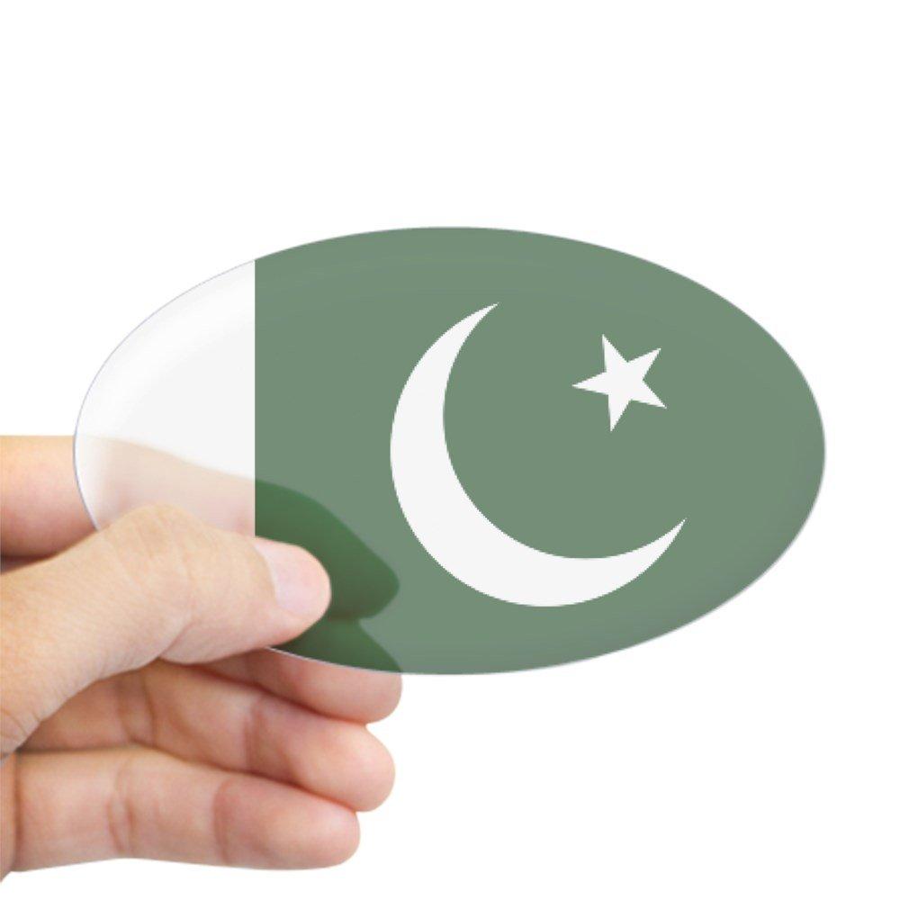 Amazon com cafepress pakistani flag oval bumper sticker euro oval car decal home kitchen