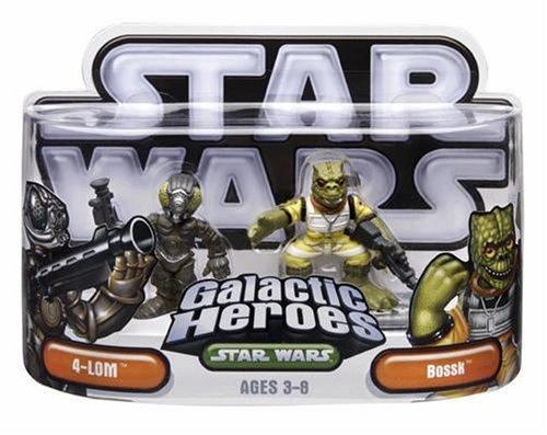 Hasbro 85419 Star Wars Galactic Heroes Mini-Figure 2 Pack - 4-LOM & Bossk - 4 Lom Star