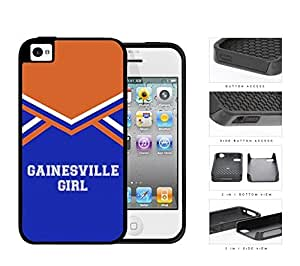 Gainesville City Girl School Spirit Cheerleading Uniform iPhone 4 4s 2-piece Dual Layer High Impact Black Silicone Cover by icecream design