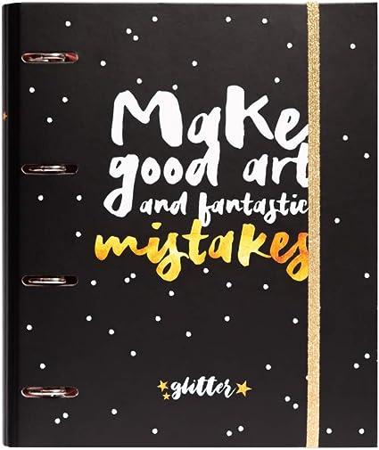 Oferta amazon: Grupo Erik Editores Glitter Stars - Carpeta con 4 anillas troquelada, 32 x 27.5 cm