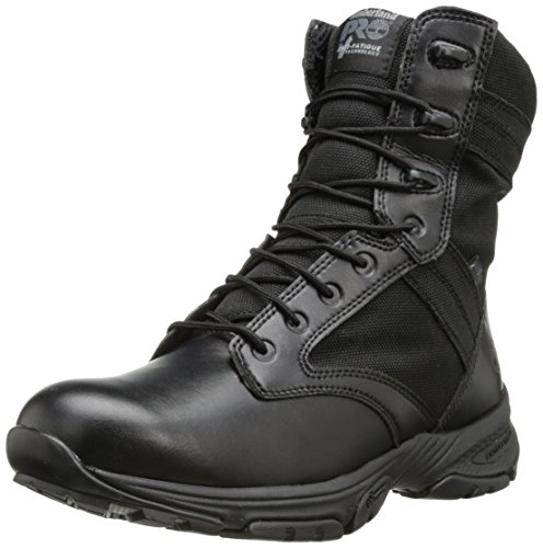 Timberland PRO Men's 8 Inch Valor Soft Toe Waterproof Side-zip Duty Boot,Black Smooth With Textile,9 M US by Timberland PRO