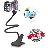 Raptas Universal Flexible Adjustable Mobile Foldable 360 Rotable Hands-free Cell Phone Holder Clip Stand for Live Stream, Desk, Bed, Kitchen, Office Compatible With Android, IOS Devices Other All Smartphones