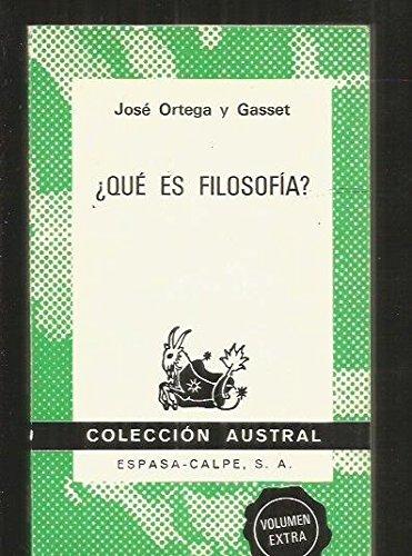 que es filosofia?: Amazon.es: Jose Ortega Y Gasset: Libros
