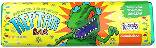Astor Chocolate Reptar Bar - Nickelodeon Rugrats - Green Frosting Filled Milk Chocolate Bar, Turns Your Tongue Green - 1.75 Ounces price tips cheap