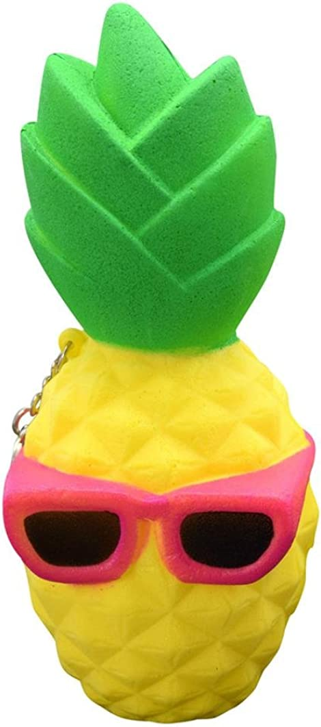 Sonnena Juguetes compresivos, Squishies Kawaii Juguetes Piña Squishy Squeeze Toy Slow Rising Decompression Toys Stress Relief Juguete Suave Squeeze Toys (6.5 * 6.5 * 12cm, A)