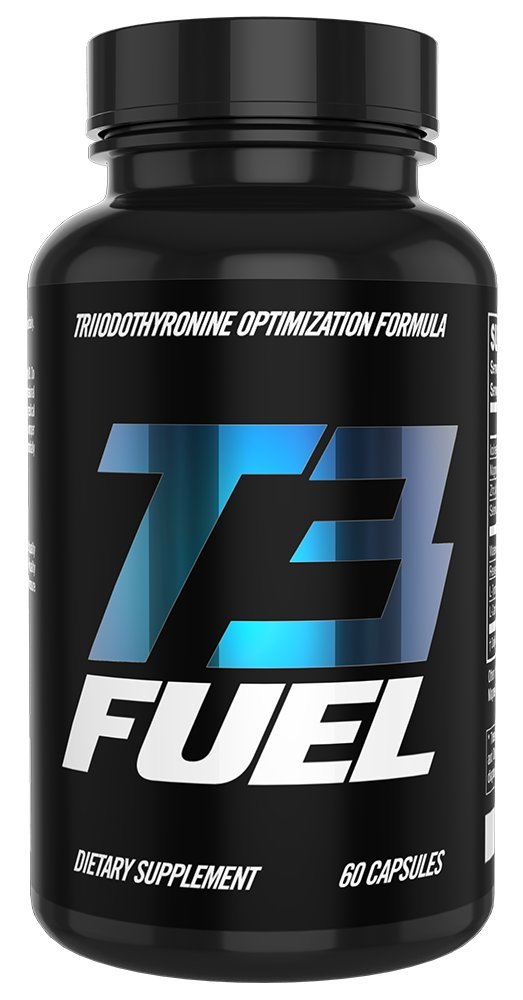 Thyroid Support Supplement with Iodine & Resveratrol - T3 Fuel - Increase Metabolism Naturally - Promotes Weight Loss - Improve Mood & Energy - 30-Day Supply (60 Count)