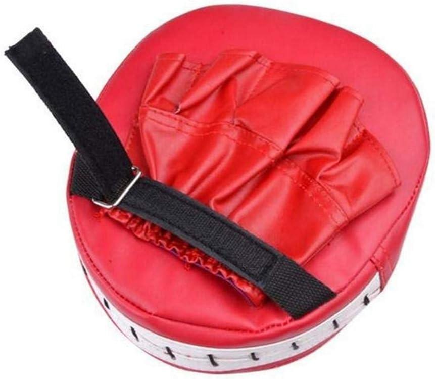 negro Almohadillas de boxeo de piel a la moda para artes marciales Muay Thai 1 unidad entrenamiento acolchado de boxeo entrenamiento de boxeo
