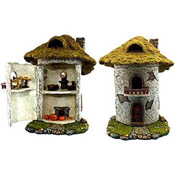 """Fairy Garden House – Miniature Accessories – Kit with Fairy Farm House & Furniture Supplies – House is 9.25"""" High – Fairy Farm Collection by Pretmanns"""