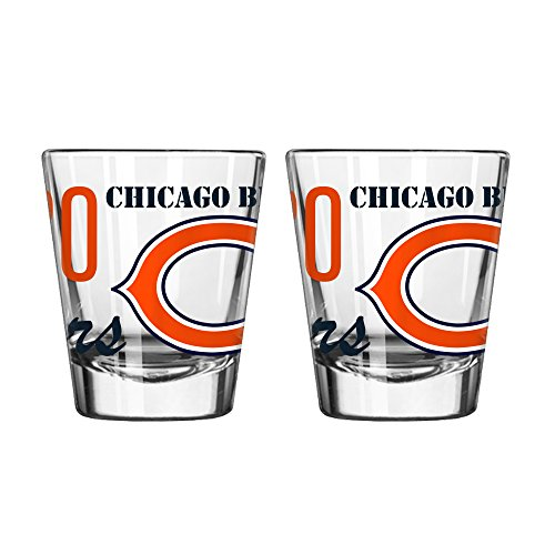 Boelter Brands NFL Chicago Bears Spirit Shot Glass, 2-Ounce, 2-Pack
