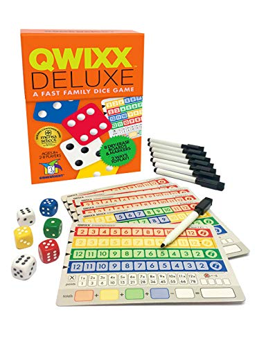 - Gamewright Qwixx Deluxe - Fast Family Dice Game