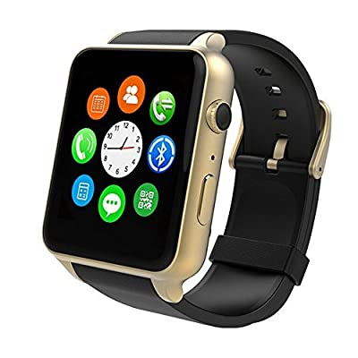 Luxsure Uwatch Smart Watch with Heart Rate Monitor Android Smart Watch Phone Sports Bluetooth Wristwatch With 3G magsensor gravity sensor Compatible With IOS & Android