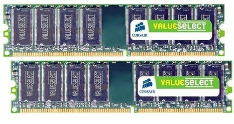Corsair 2GB (2x1GB) DDR2 667 MHz (PC2 5300) Desktop Memory (VS2GBKIT667D2)