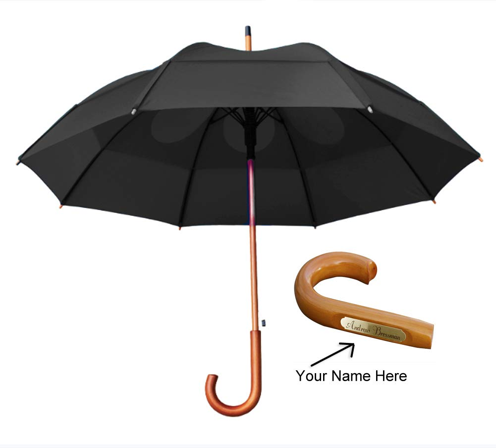 GustBuster Classic 48-Inch Personalized Engravable Automatic Wind Resistant Umbrella