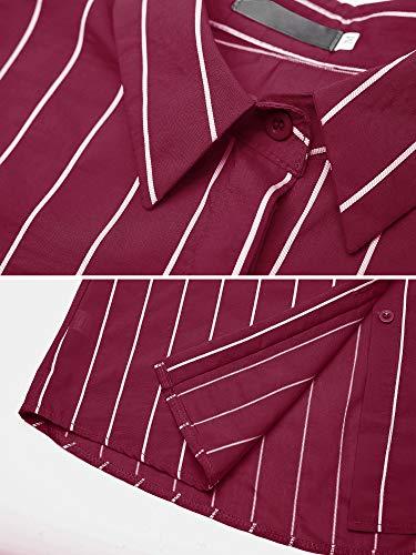 Moda T Casual Rayas Blusa V Escote en Blusa Aitosula Mujer nz0xqawx7