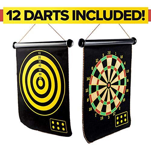MrSunshine Magnetic Dart Board for Kids, 12pcs Magnetic Dart Flights, Best Kids Toy Gift for Boys Indoor Outdoor Games, Popular Dart Board for Kids Party and Birthday Game, Safe Dart Game Set