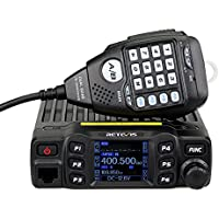 RT95 Mobile Ham Radio Dual Band Amateur Transceivers VHF136-174/ UHF 430-490 MHz 25W 200CH CTCSS/DCS DTMF Mobile Transceiver (Black, 1 pack)