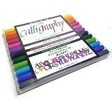 ZIG calligraphy 2 pen 12 color set (japan import) by Jig