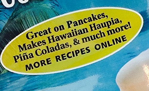 Hawaiian Coconut Pancake and Waffle Syrup Mix, 2 Pack - Makes up to 40 Ounces Total, Simple to Make, Just Mix with Hot Water 3