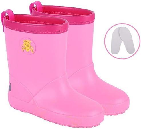 antid/érapantes pour les enfants, Wellington imperm/éables Bottes de pluie pour les tout-petits