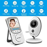AX-Bon Video Baby Monitor Wireless with Digital Camera Night Vision 2 Way Audio Temperature Monitoring Lullabies Long Range and Capacity Battery for Security